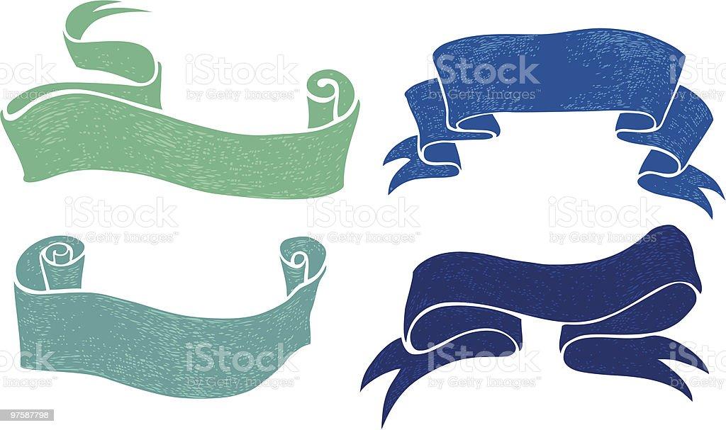 Rubans rubans – cliparts vectoriels et plus d'images de bleu libre de droits