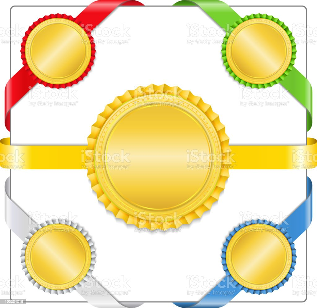 Ribbons with medals royalty-free ribbons with medals stock vector art & more images of achievement
