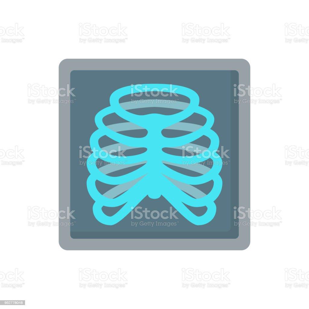 Icono De Vector Plano De Costillas Radiografía Huesos Humanos ...