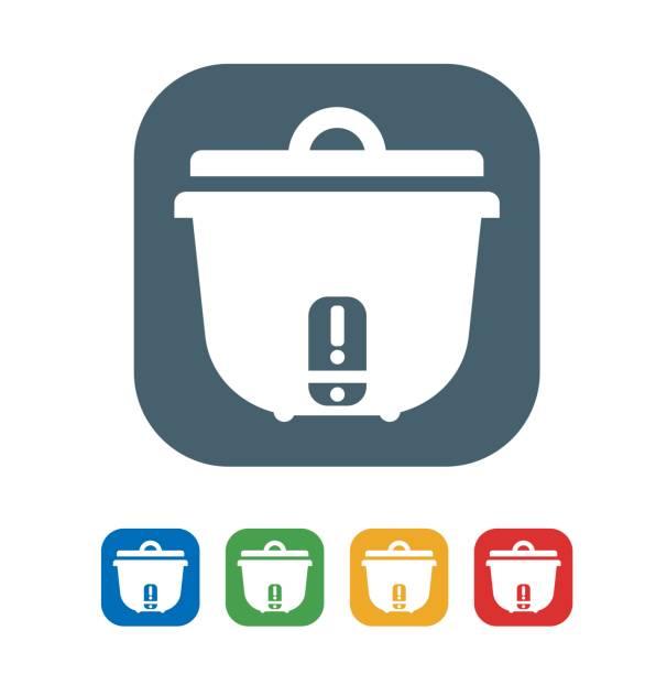 米炊飯器フラット アイコン分離白 background.vector イラスト アイコンを - インド料理点のイラスト素材/クリップアート素材/マンガ素材/アイコン素材