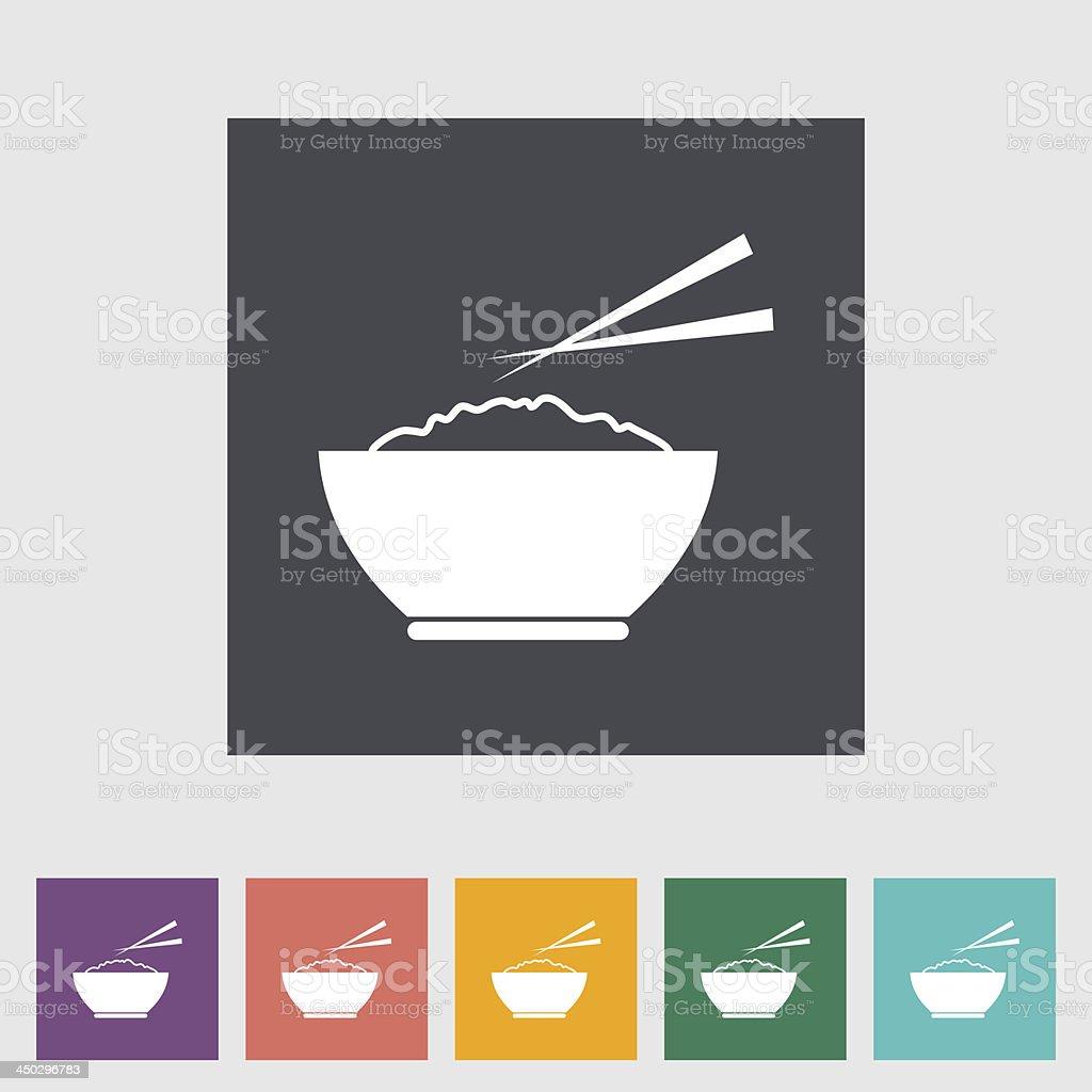 Rice flat icon vector art illustration