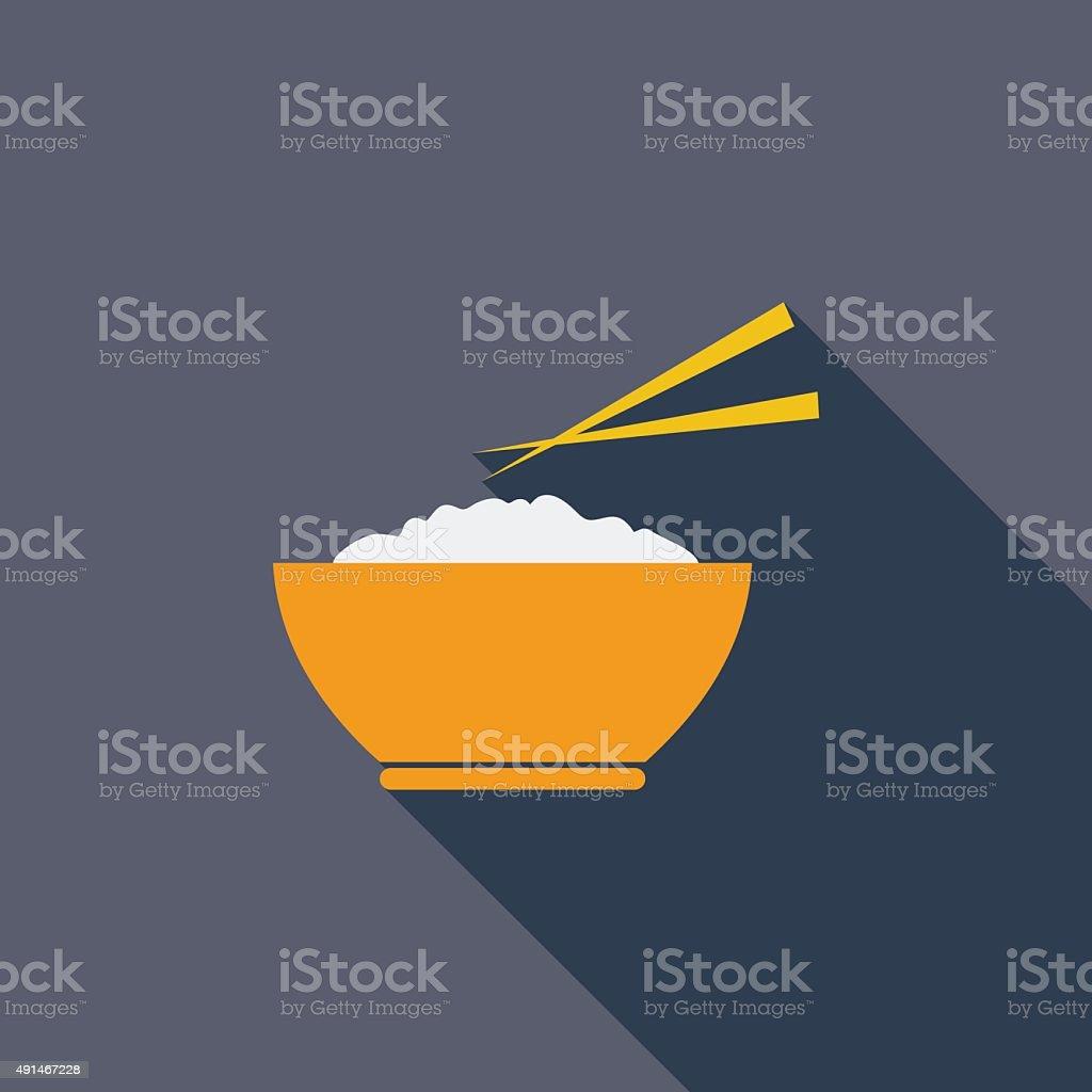 Rice icon vector art illustration