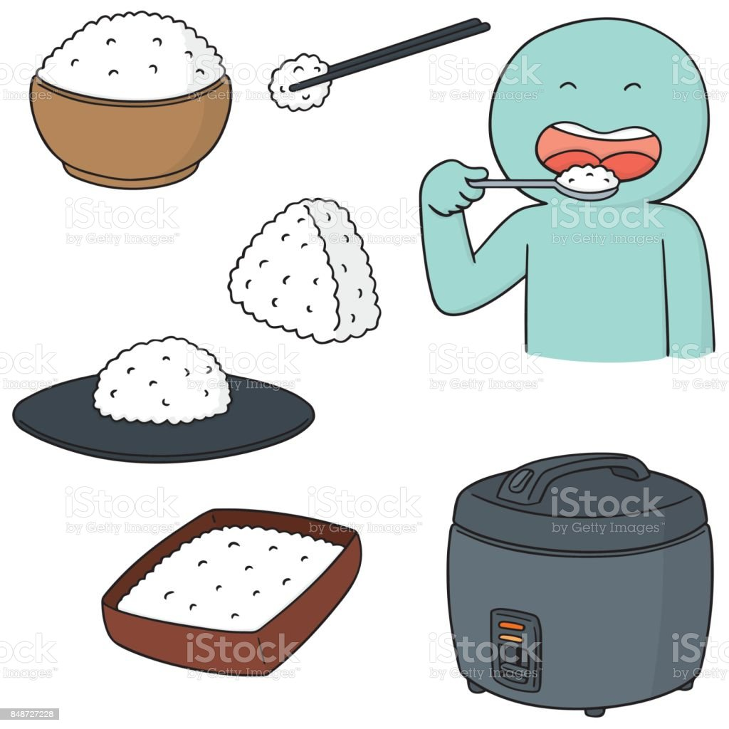 rice vector art illustration