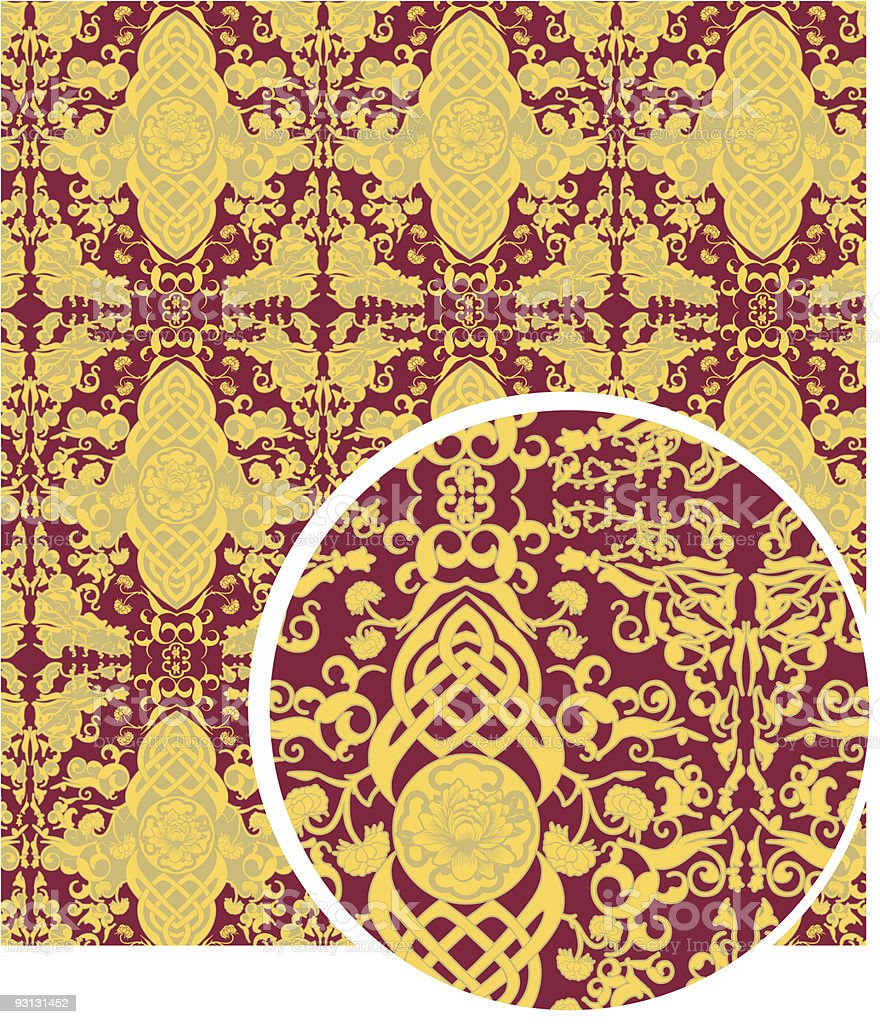 Rich fabric pattern royalty-free stock vector art