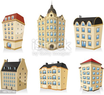set 01, Rich luxury high class Classic building edifice structure construction collection, english style.