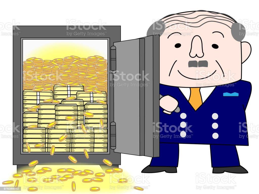 rich man vector art illustration