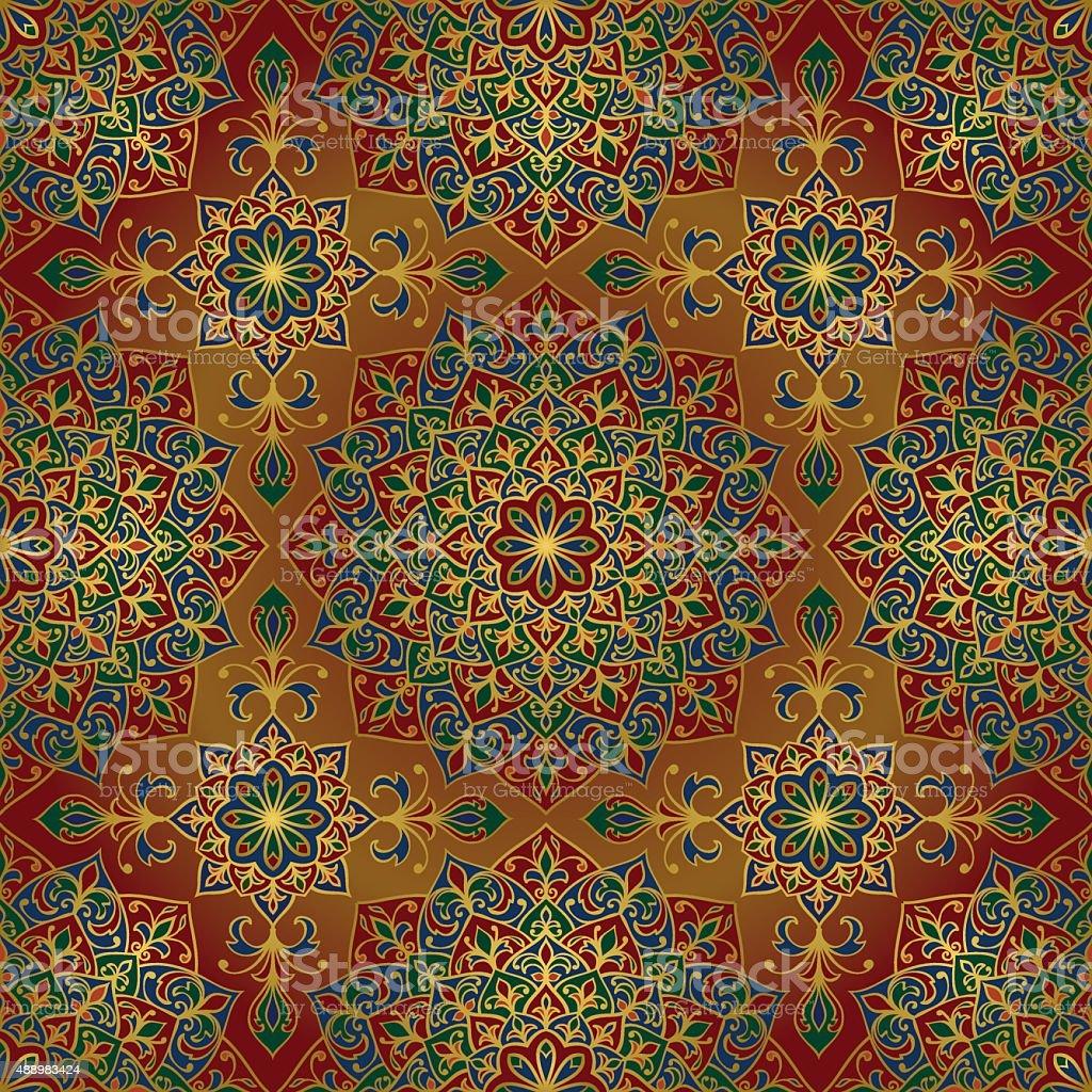 Rich, ornamental ethnic pattern. vector art illustration