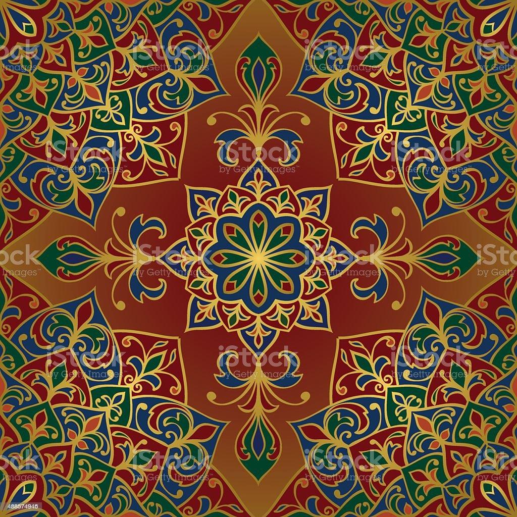Rich, vector ornamental pattern. vector art illustration