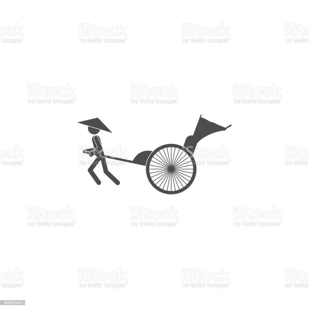 Rickshaw Icon Elements Of Chinese Culture Icon Premium Quality