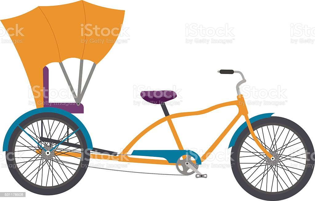 Rickshaw vector illlustration vector art illustration