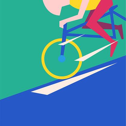 Ride bike abstract