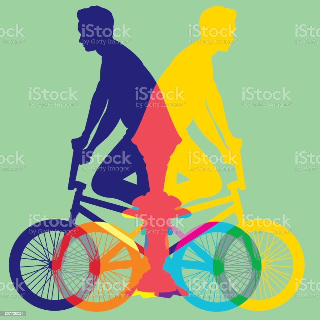 ride bike silhouette vector vector art illustration