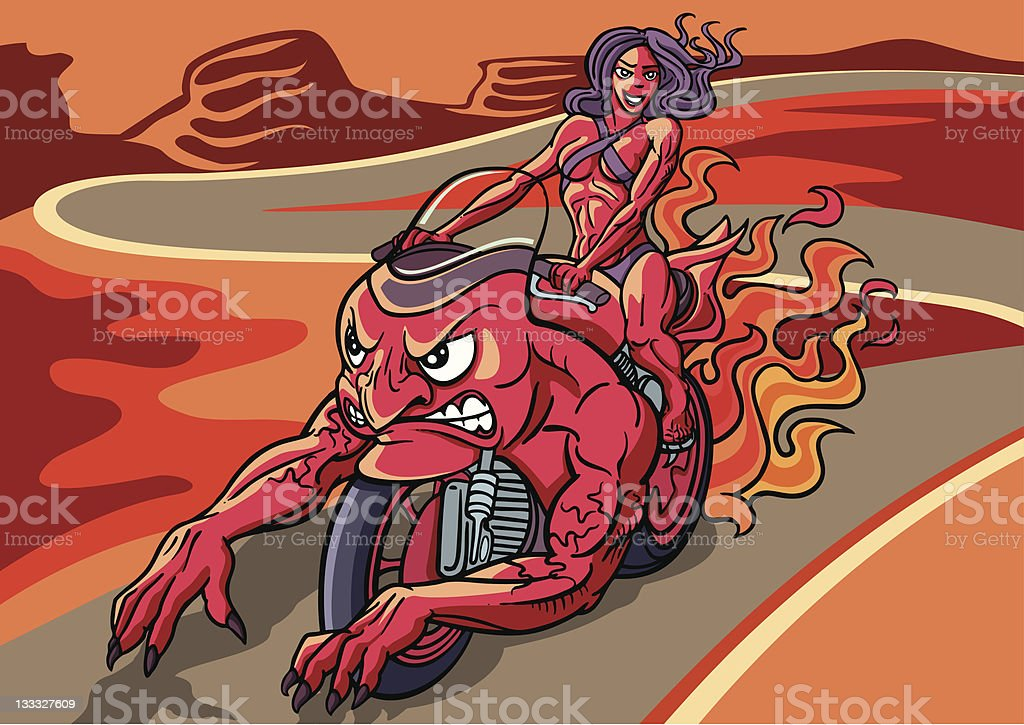 ride the devil royalty-free stock vector art