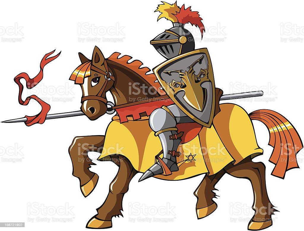 Rider knight vector art illustration