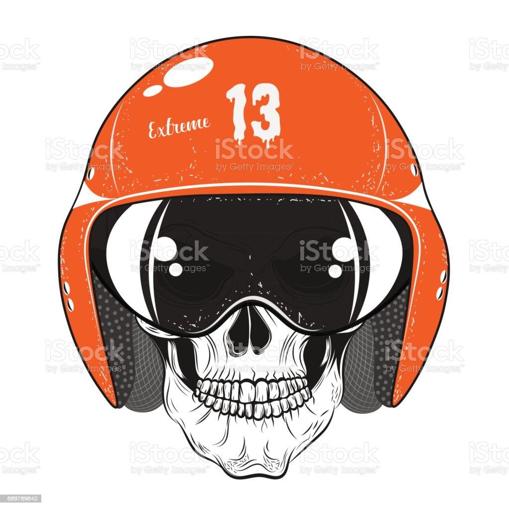 Rider. Skull. Vector illustration vector art illustration