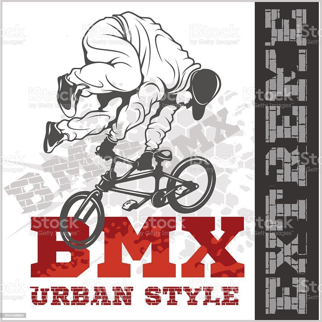 BMX rider - urban team. Vector design vector art illustration