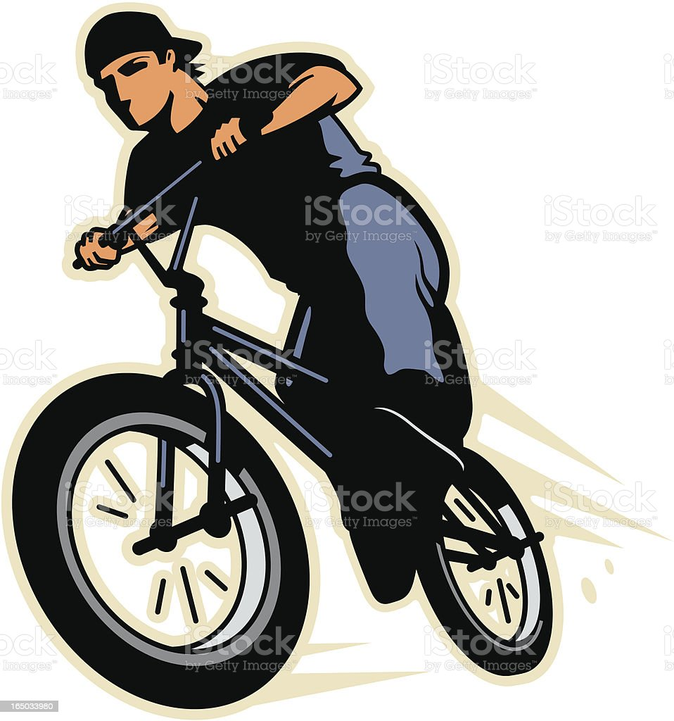 BMX Rider royalty-free bmx rider stock vector art & more images of agility