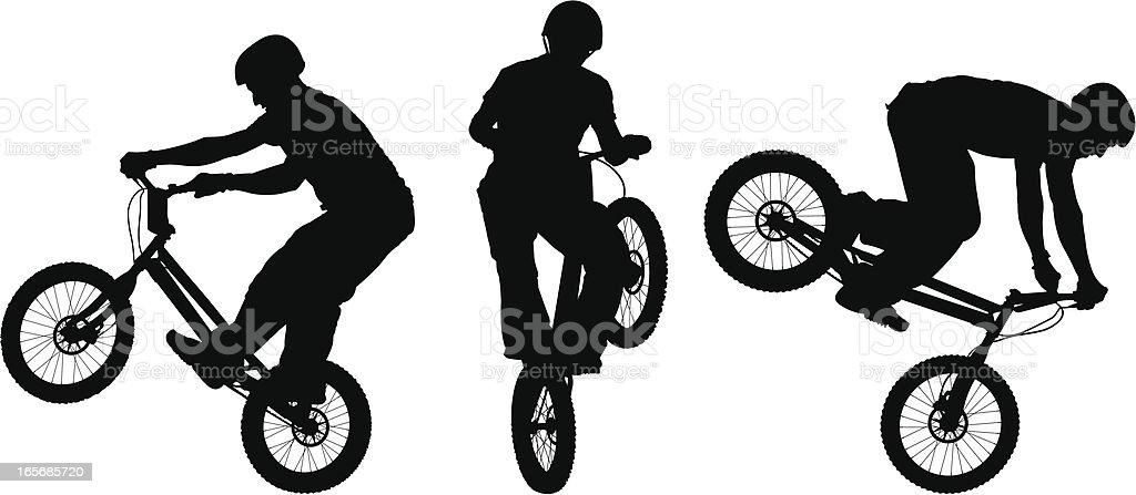 BMX Rider (Vector) vector art illustration