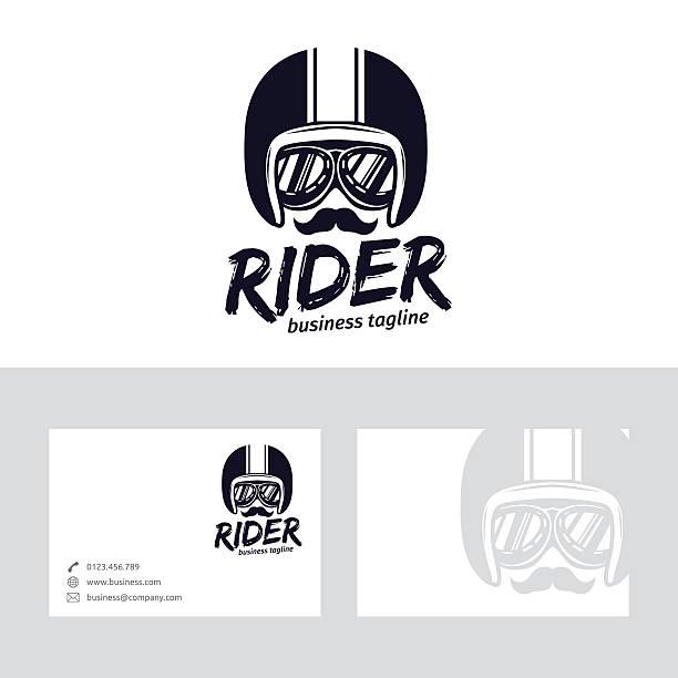 rider vector logo - fahrzeug fahren stock-grafiken, -clipart, -cartoons und -symbole