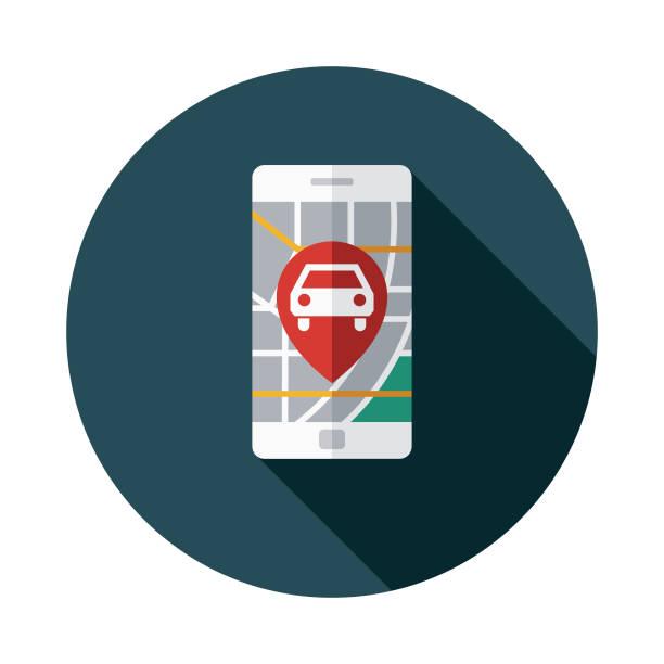 Ridesharing App Icon vector art illustration