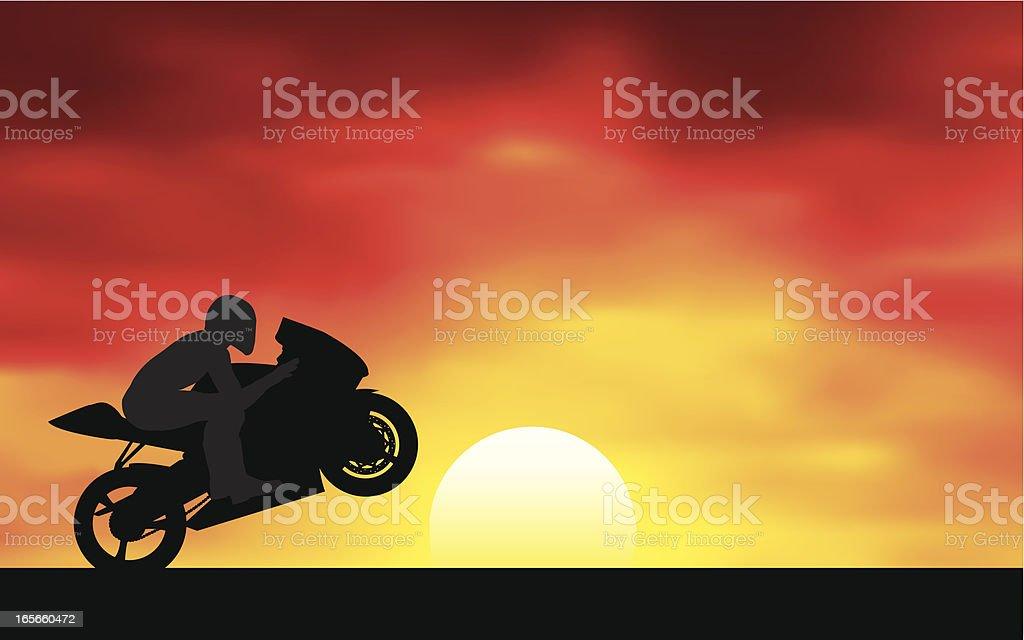 Riding at Dawn royalty-free stock vector art