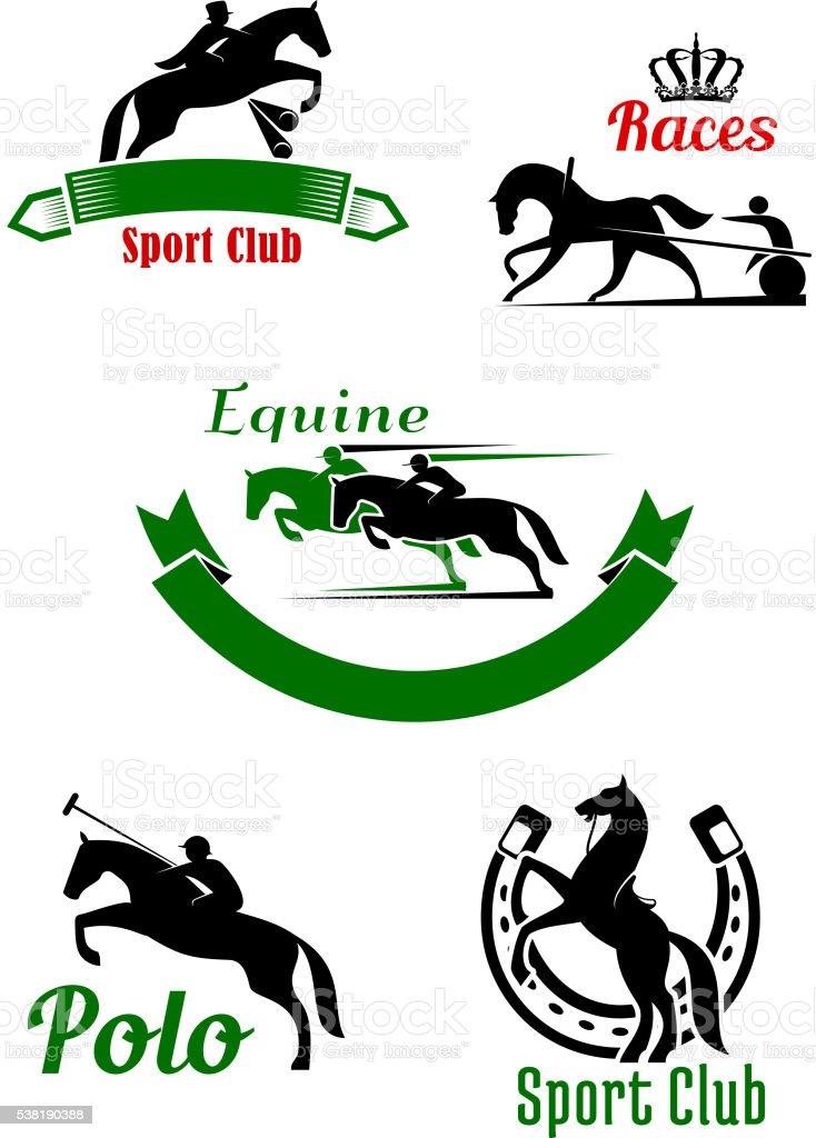 Ilustración de Club Hípico La Pista De Carreras De Caballos Y Polo ...