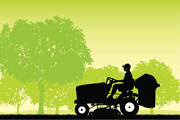 Royalty Free Riding Mower Clip Art Vector Images