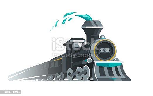 Vector Illustration of the Gravy Train.