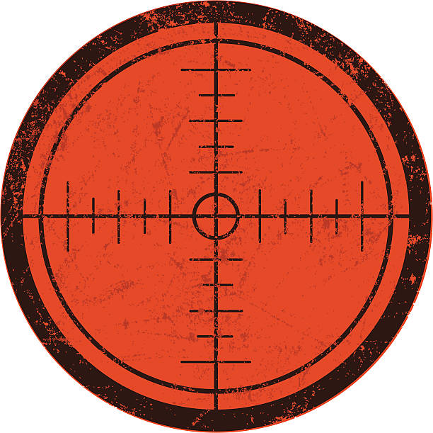 Rifle Scope Crosshairs Crosshairs gun stock illustrations