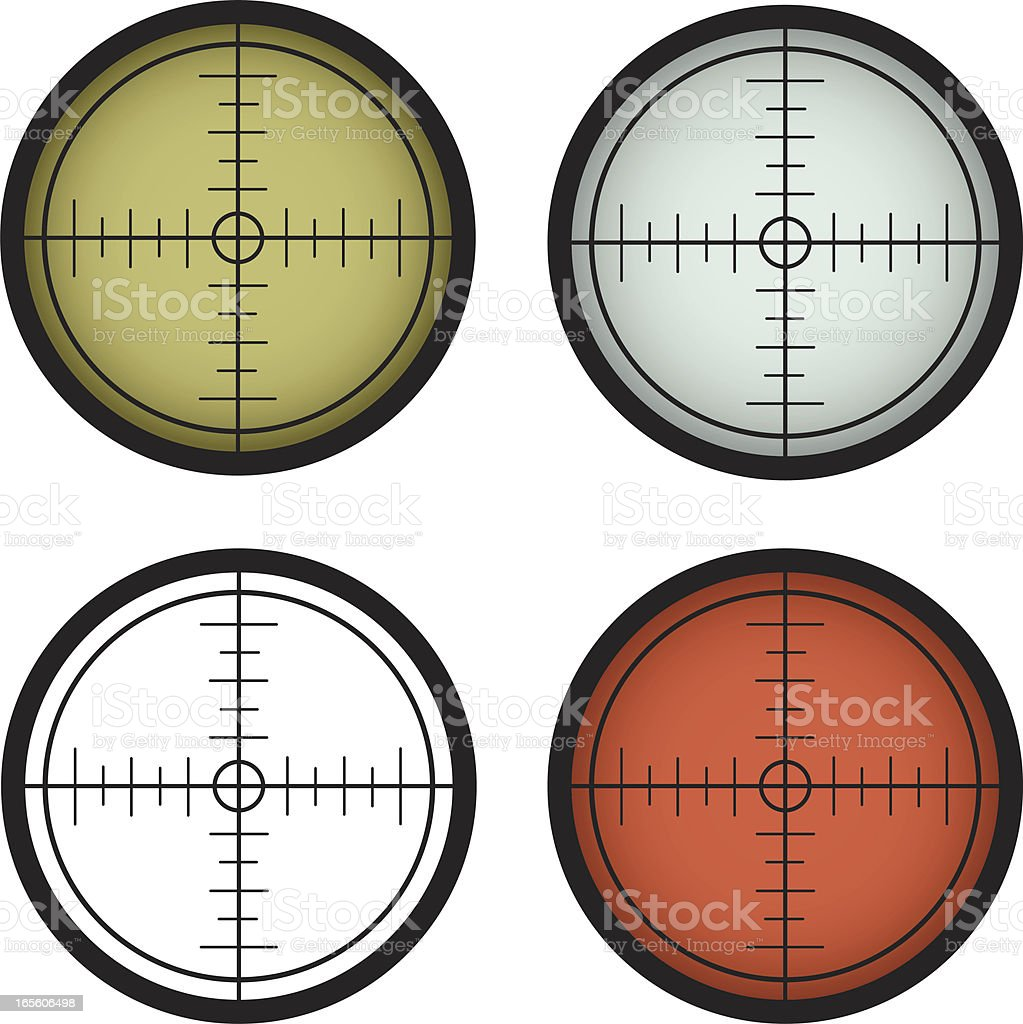 Rifle Scope vector art illustration