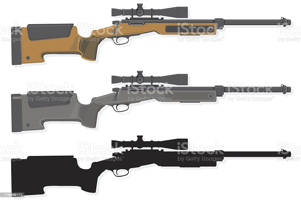 Rifle royalty-free rifle stock vector art & more images of clip art