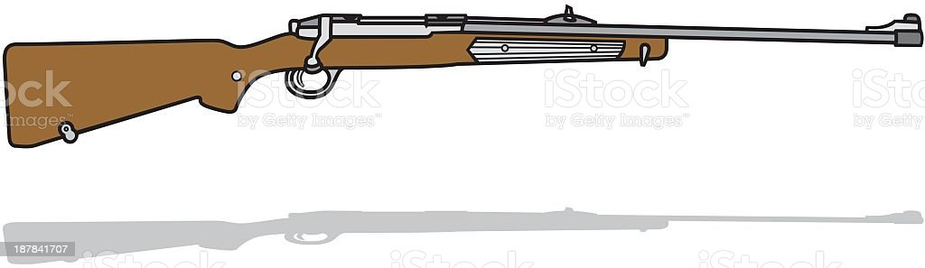 Rifle royalty-free rifle stock vector art & more images of brown