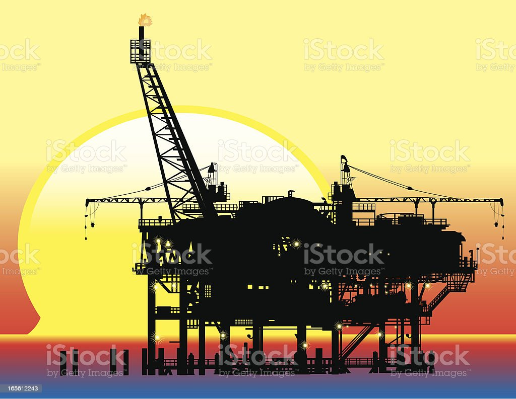Rig Sunset royalty-free rig sunset stock vector art & more images of drilling rig