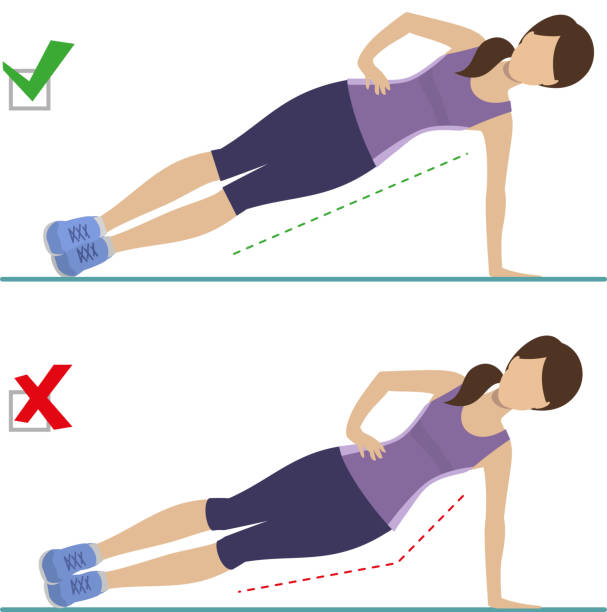 Rezultate imazhesh për the side plank pose animated