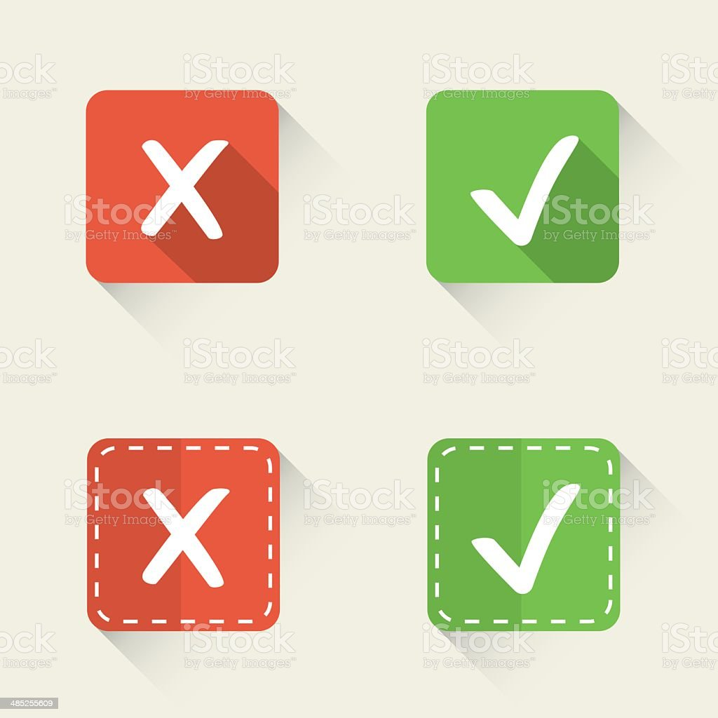 Right and wrong vector check marks in flat style stock vector art right and wrong vector check marks in flat style royalty free stock vector art buycottarizona