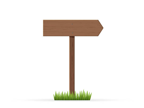 bildbanksillustrationer, clip art samt tecknat material och ikoner med right arrow road sign on grass - stock arrow