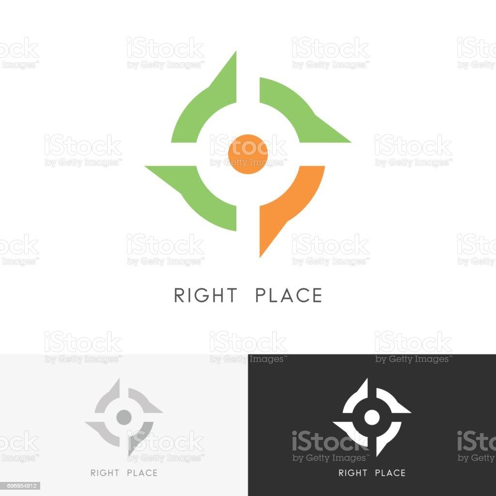 Right place symbol vector art illustration