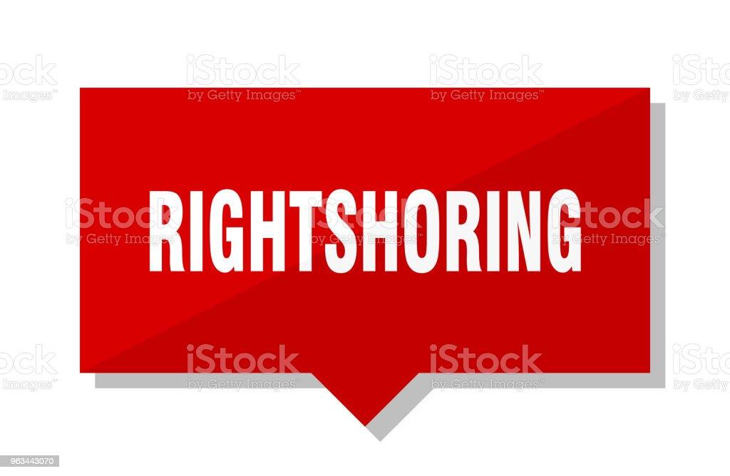 rightshoring kırmızı etiket - Royalty-free Amblem Vector Art