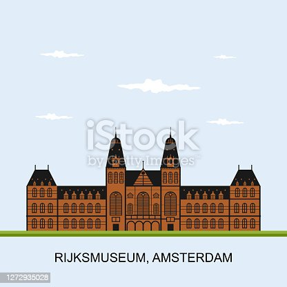 istock Rijksmuseum Amsterdam museum. The museum is located at the Museum Square in the borough Amsterdam South, close to the Van Gogh Museum, the Stedelijk Museum Amsterdam, and the Concertgebouw. 1272935028