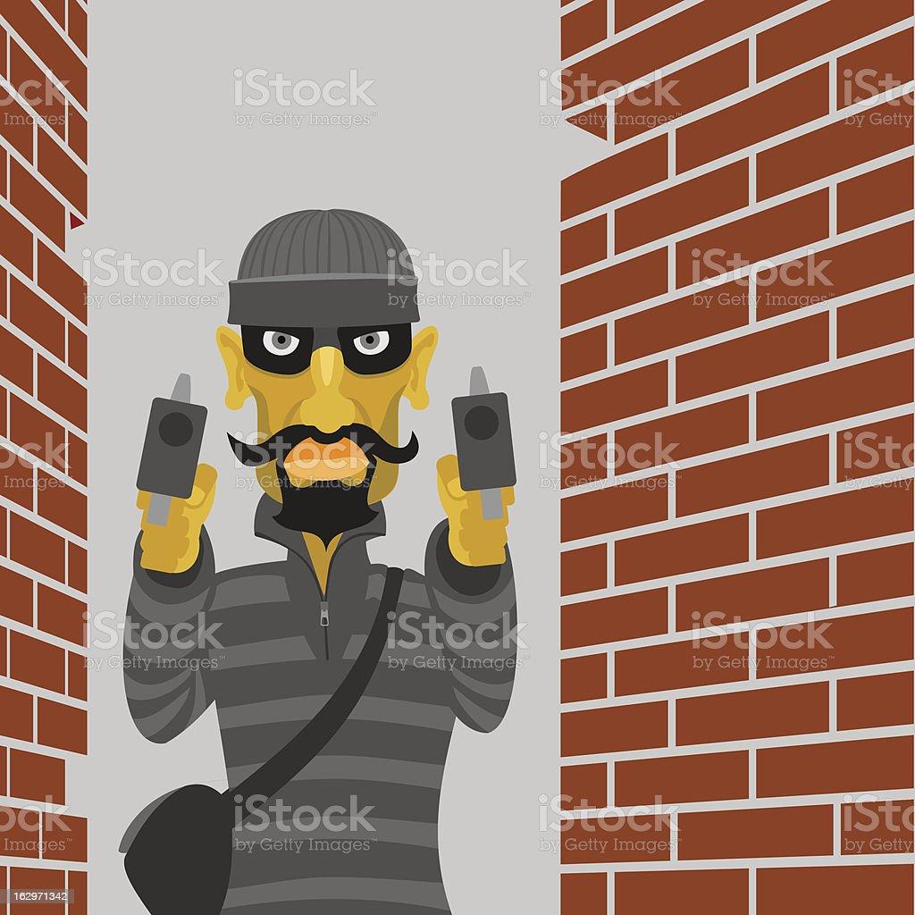 Сriminal attacks royalty-free Сriminal attacks stock vector art & more images of adult
