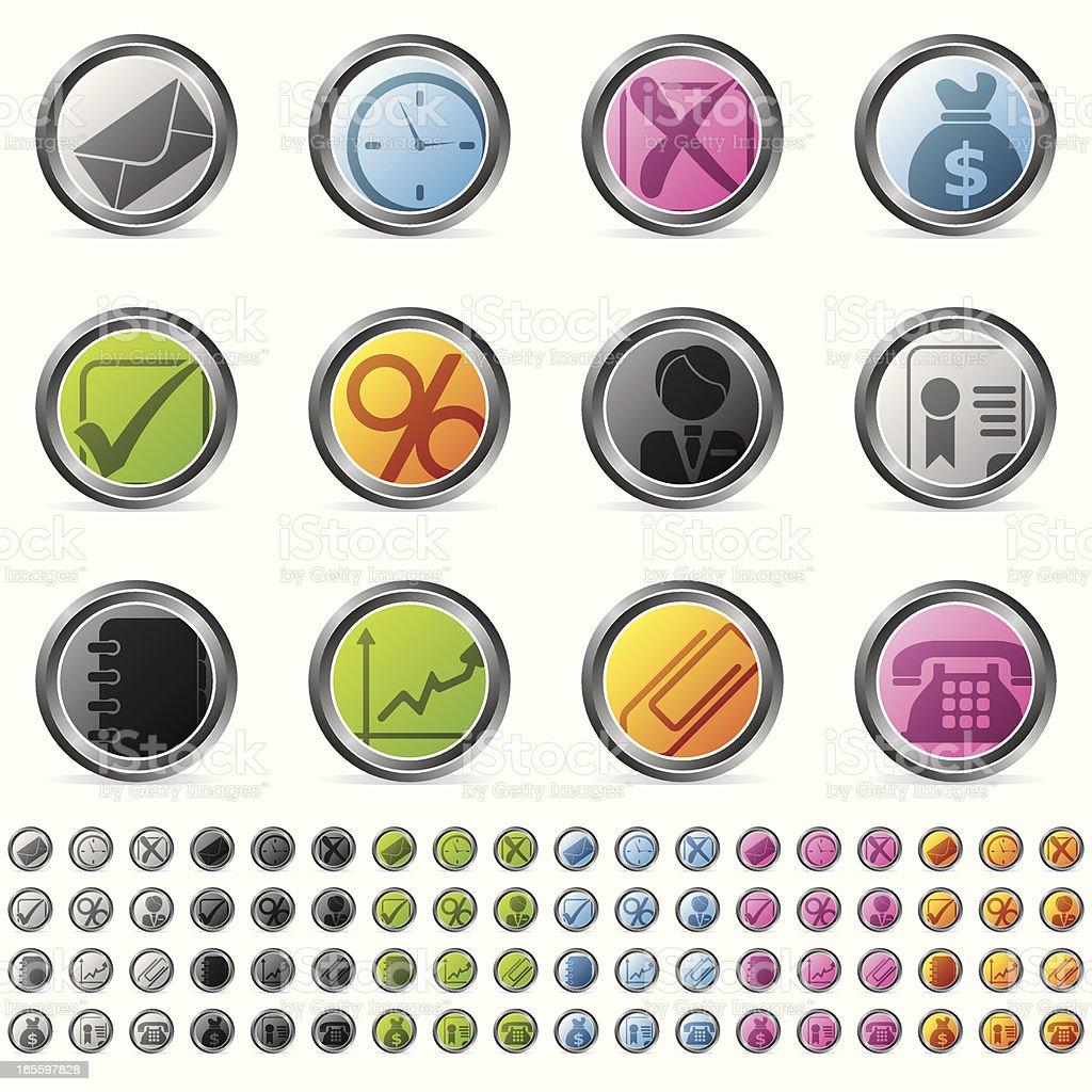 De iconos de negocios ilustración de de iconos de negocios y más banco de imágenes de ahorros libre de derechos