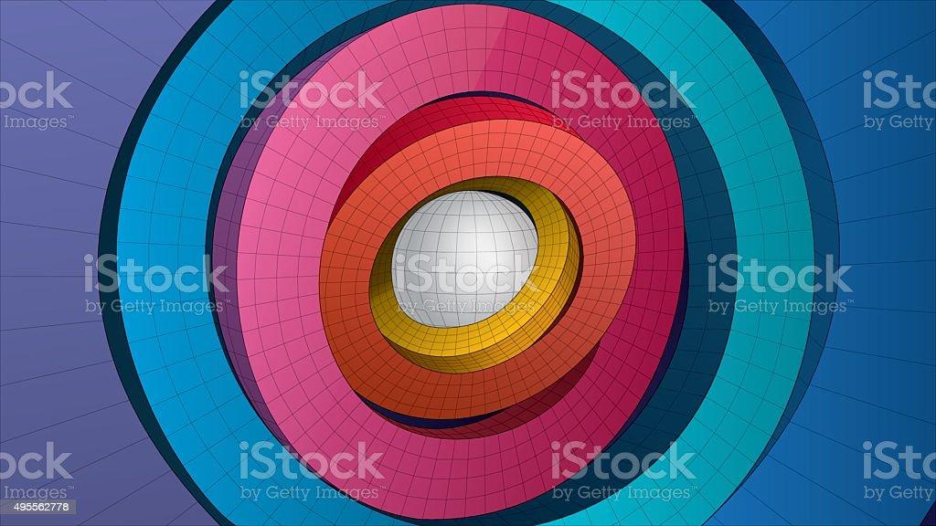 ring form composition vector art illustration
