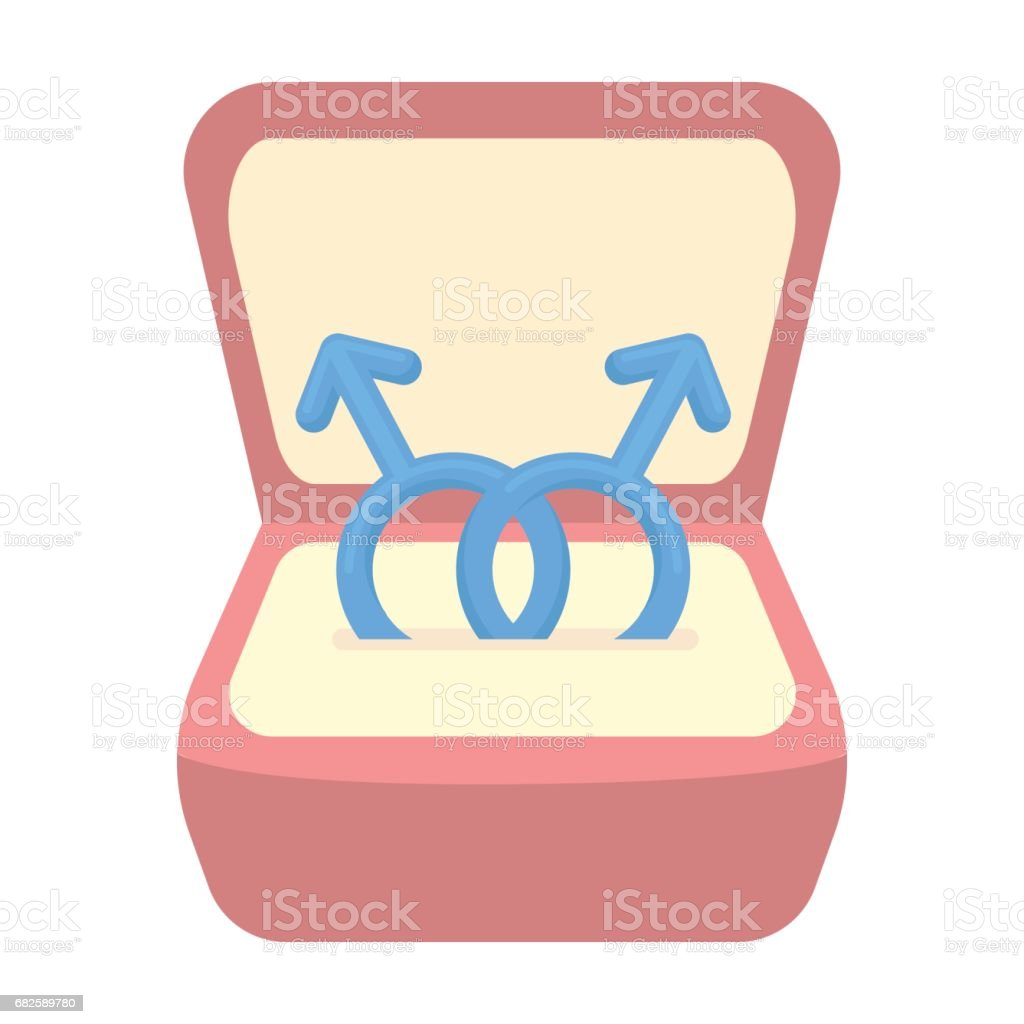 Ring icon cartoon. Single gay icon from the big minority, homosexual cartoon. vector art illustration