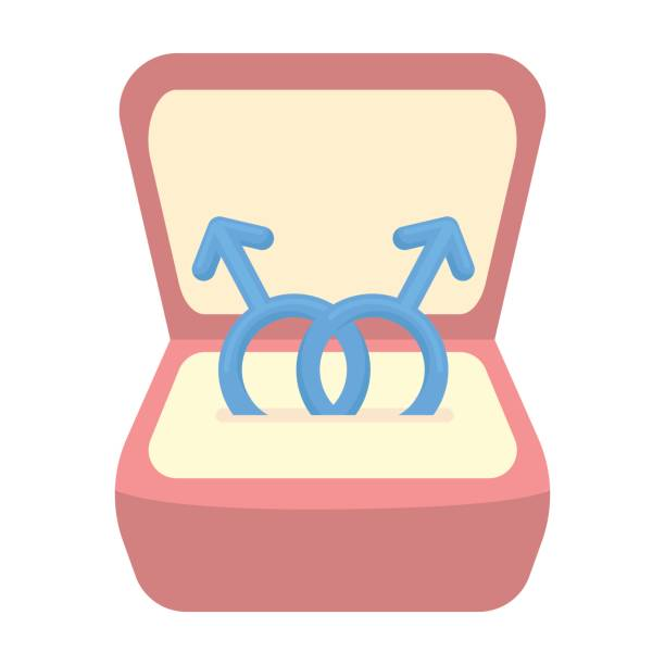 ring icon cartoon. single gay icon from the big minority, homosexual cartoon. - minority stock illustrations, clip art, cartoons, & icons