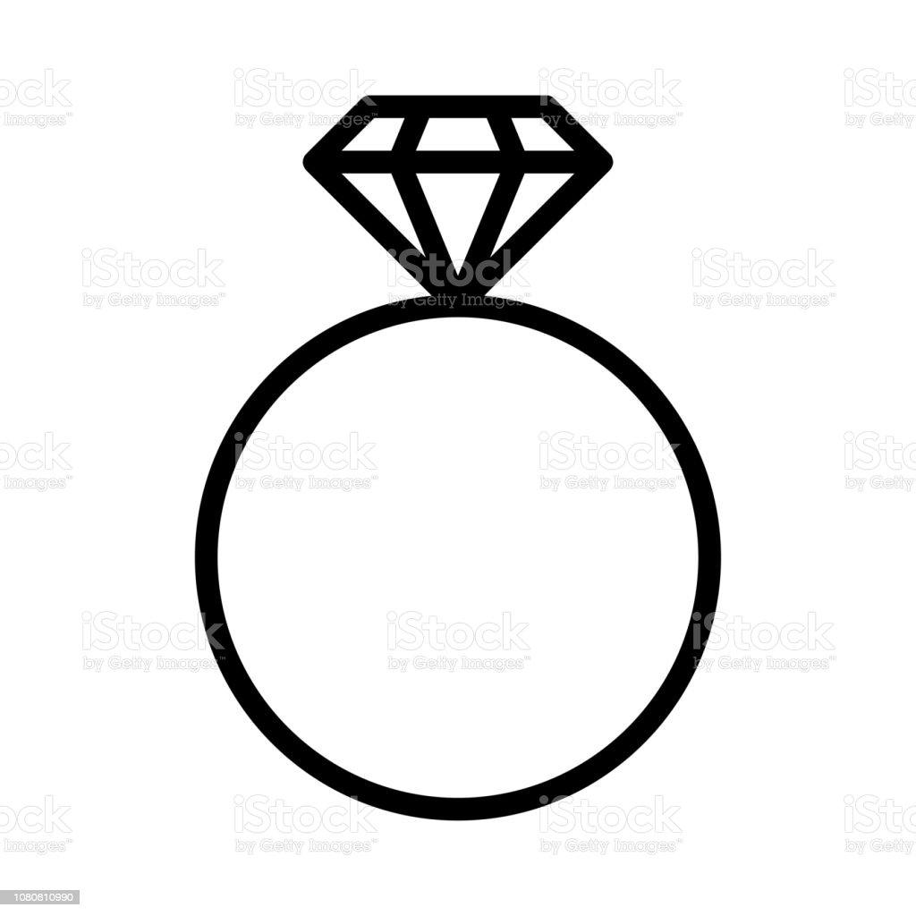 bague diamant clipart