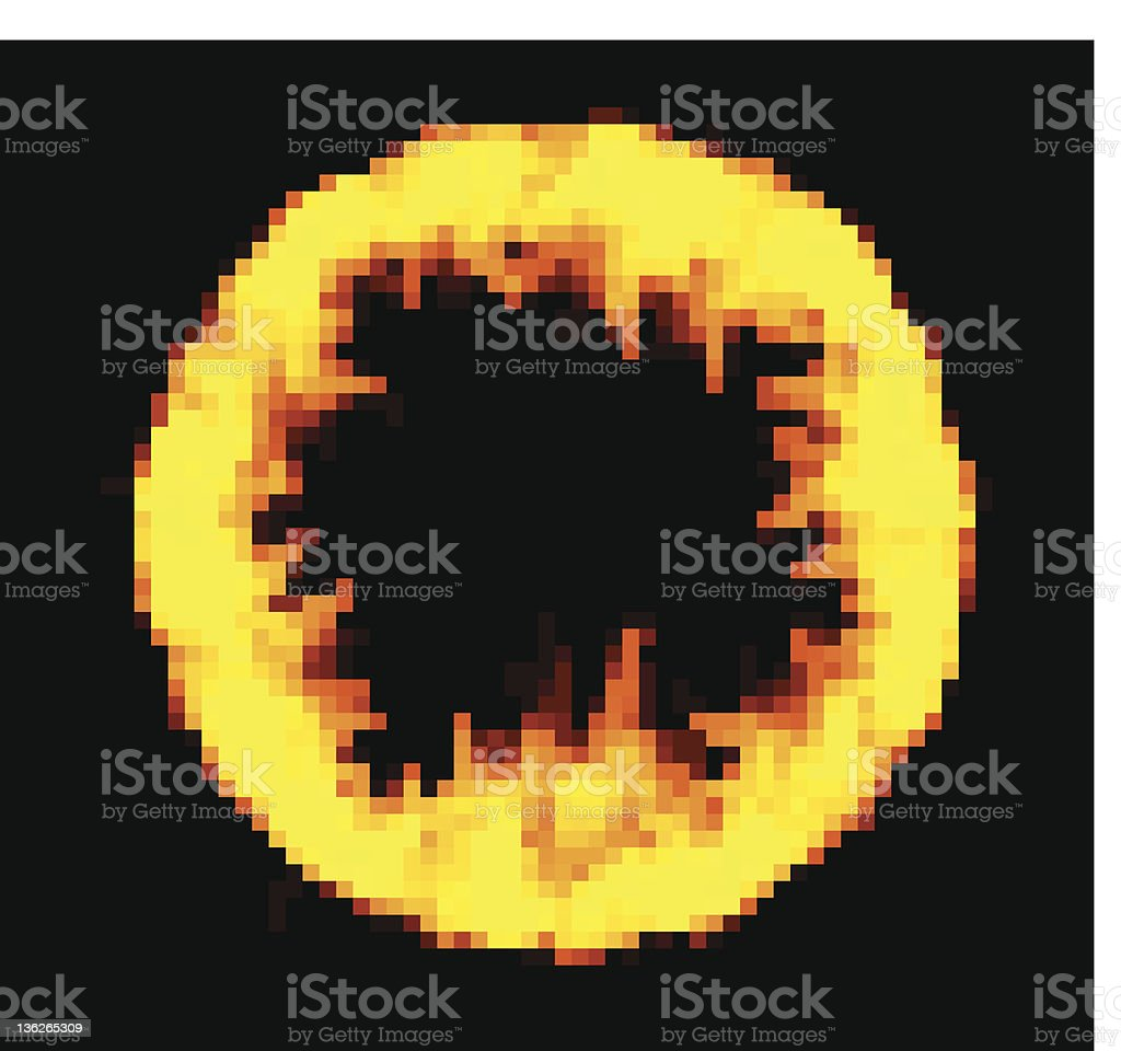 Ring of fire vector art illustration