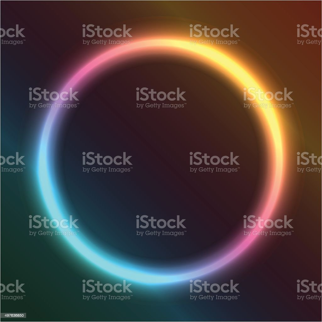 ring of neon vector art illustration