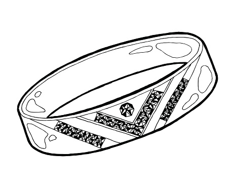 Ring Sketch Hand Drawn Ring Jewelry Ring With Diamond In Sketch Style Vector Illustration Stock Illustration - Download Image Now