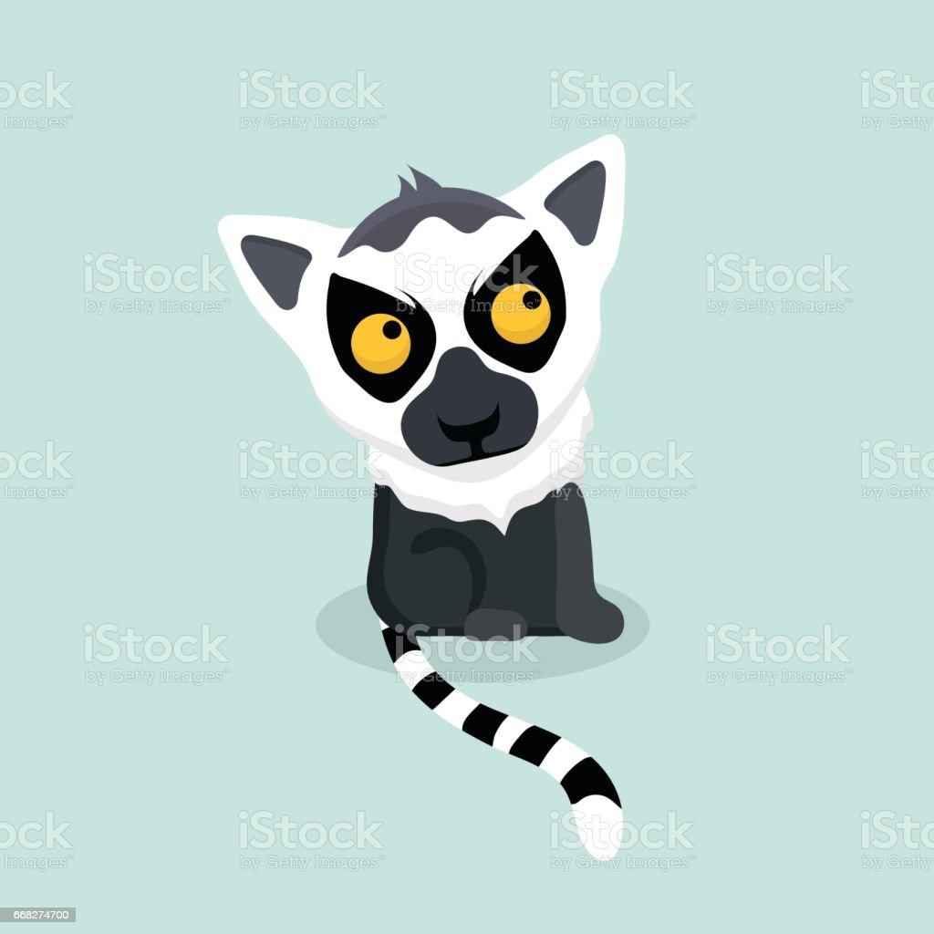 Ring tailed lemur. ring tailed lemur - immagini vettoriali stock e altre immagini di 1980-1989 royalty-free