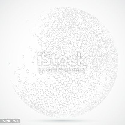 Ring textured sphere pattern